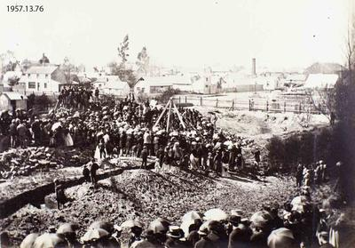Photograph: Laying First Stone of St. Michael's Church