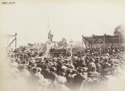 Photograph: Unveiling the Godley Statue, Christchurch