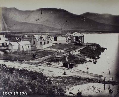 Photograph: Ferrymead Station Christchurch Railway 1863