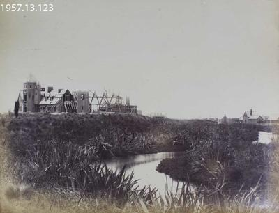 Photograph: Construction of Government Buildings, Christchurch