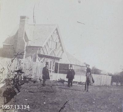 Photograph: Mr Luck's House, Gloucester Street, Christchurch 1860