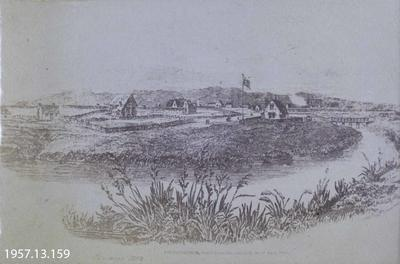 Photograph: Image of Christchurch 1852