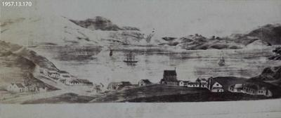 Photograph: Drawing of Lyttelton