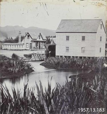 Photograph: Standard Office and Inwood's Mill 1861