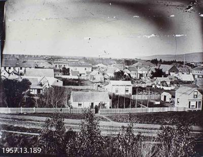 Photograph: Christchurch from Government Buildings 1864