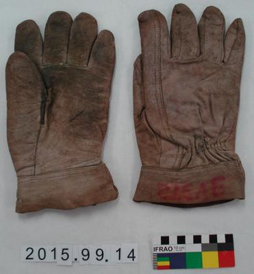 Gloves: Brown Leather