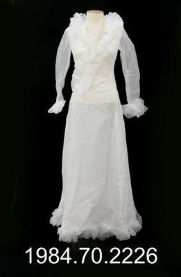 Wedding Dress: Ruffled Trim