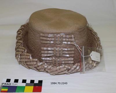 Hat: Baker Straw with Braided Trim
