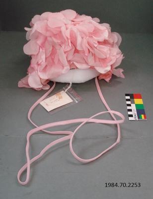 Hat: Pink Floral Bonnet