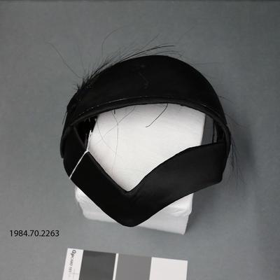 Hat: Black Satin and Osprey
