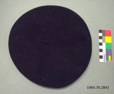 Hat: Black Wool Beret