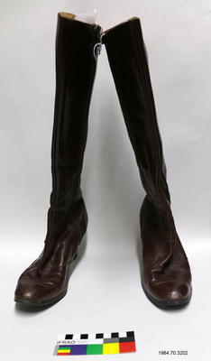 Boots: Brown Leather Knee High