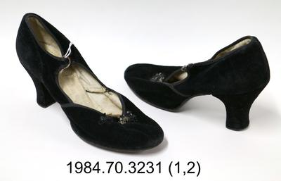 Shoes: Black Velvet Mary Janes