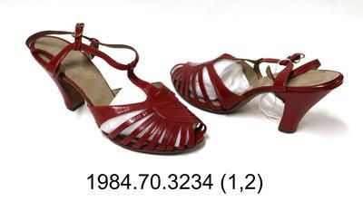 Sandals: Red Sling Back