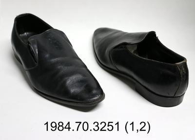 Shoes: Black Slip On