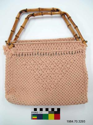 Purse: Pink Macramé