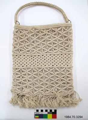 Purse: White Macramé