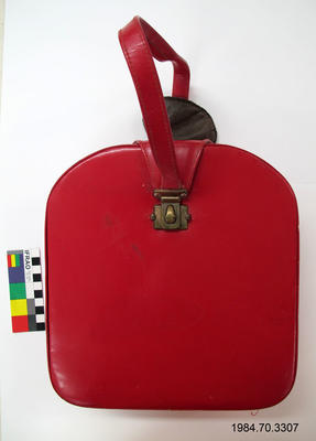 Make Up Case: Red Leather