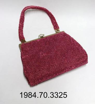 Purse: Pink Loop Crochet Straw
