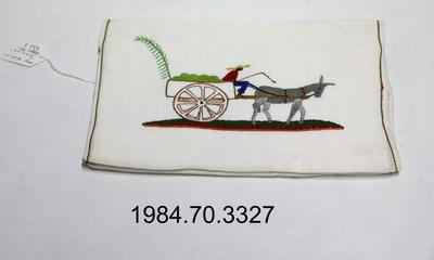 Purse: Embroidered Donkey and Cart