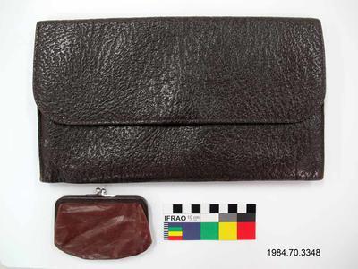 Purse: Brown Ostrich Leather