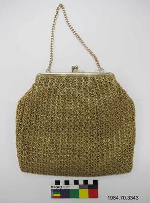 Purse: Gold Crochet