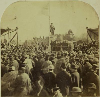 Photograph: Inauguration of the John Robert Godley Statue