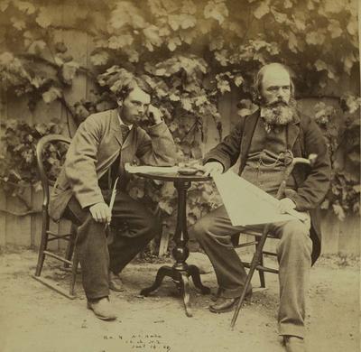 Photograph: Alfred Charles Barker and Richard Alfred Barker; 14 Jan 1869; 1957.13.281