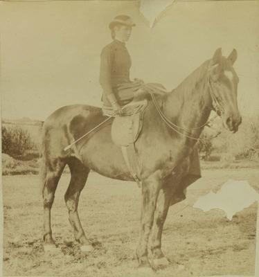 Photograph: Woman on Horse