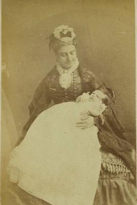 Photograph: Mrs Watkins and Child
