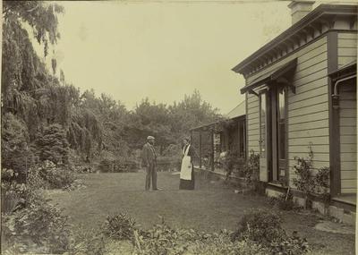 Photograph: Samuel Barker in Garden