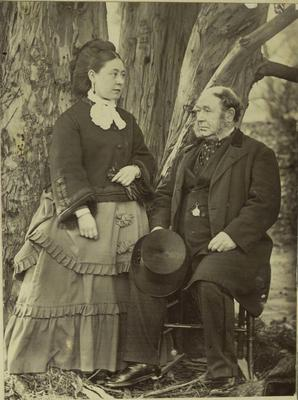 Photograph: Captain and Mrs Lawrence of the Charlotte Jane
