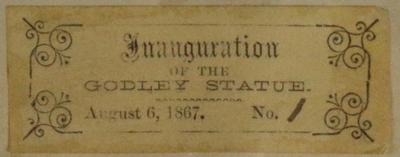 Ticket: Inauguration of Godley Statue