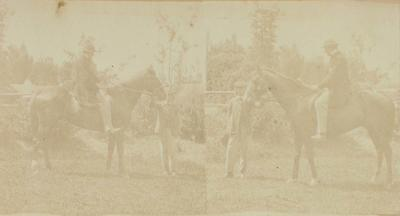 Photograph: William Rolleston on Horseback; Nov 1864; 1957.13.708
