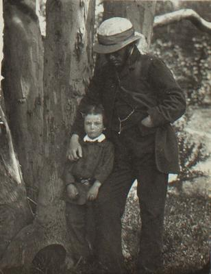 Photograph: Dr A C Barker and his son; 1957.13.763