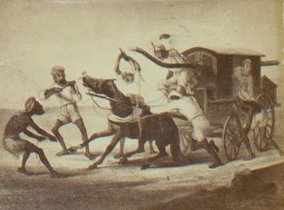 Print: Carriage Scene