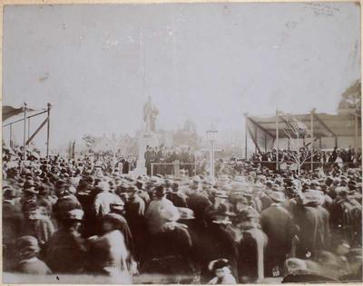 Photograph: Unveiling the Godley Statue