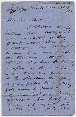 Letter: Alfred Charles Barker to Matthias Barker, 12 February 1864