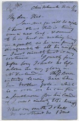 Letter: Alfred Charles Barker to Matthias Barker, 8 March 1864