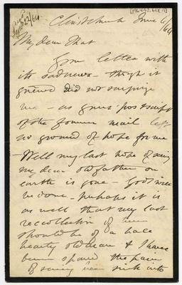Letter: Alfred Charles Barker to Matthias Barker, 6 June 1864