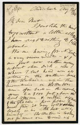 Letter: Alfred Charles Barker to Matthias Barker, 14 August 1864