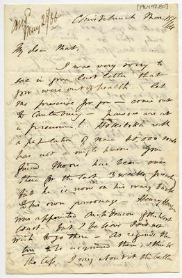 Letter: Alfred Charles Barker to Matthias Barker, 15 March 1866