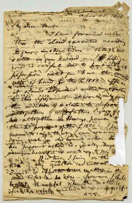 Letter: Alfred Charles Barker to Matthias Barker, 26 April 1868