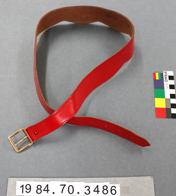 Belt: Red Leather