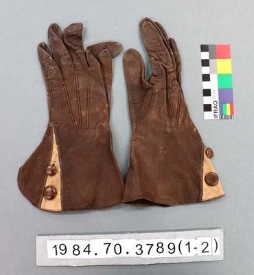 Gloves: Kidskin; 1930s; 1984.70.3789