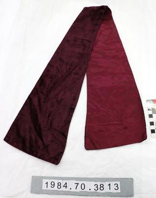 Necktie: Purple Silk and Velvet