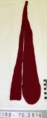 Necktie: Burgundy Knitted