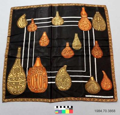 Scarf: Maori Carved Gourds