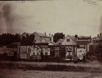 Photograph: Posters on Fence