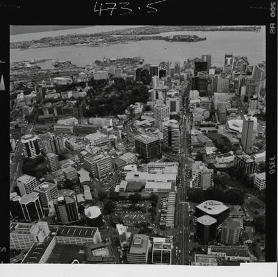Negative: Aerial View Auckland City